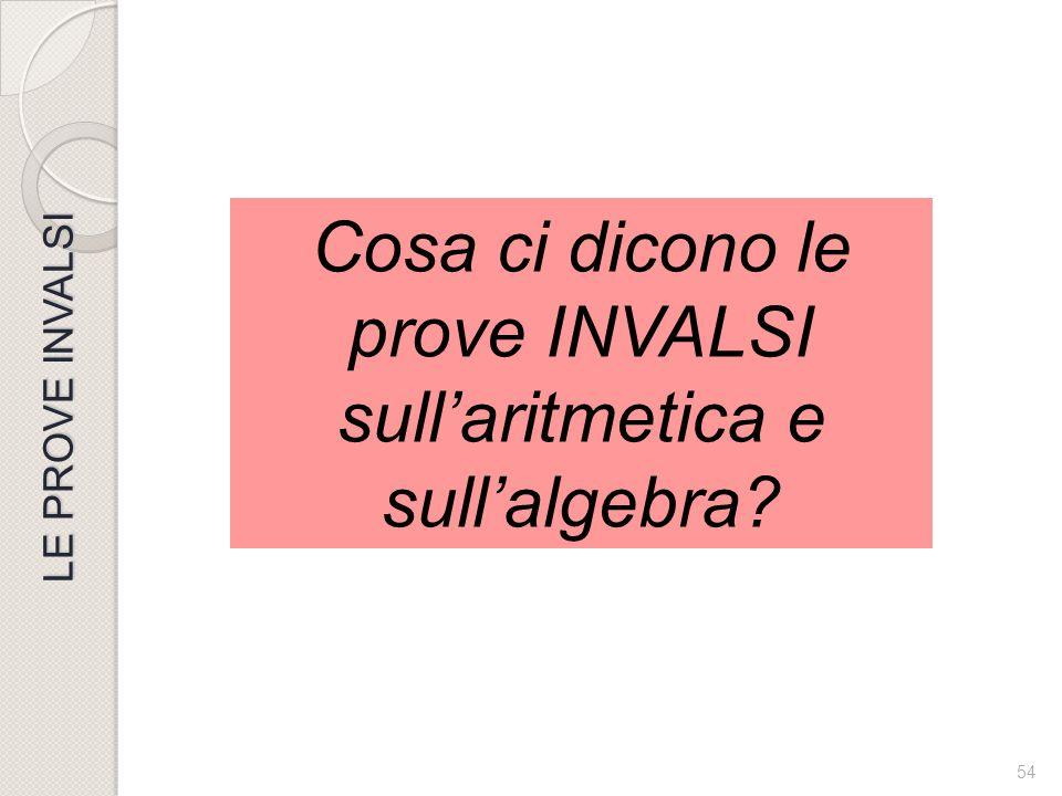 Cosa ci dicono le prove INVALSI sull'aritmetica e sull'algebra