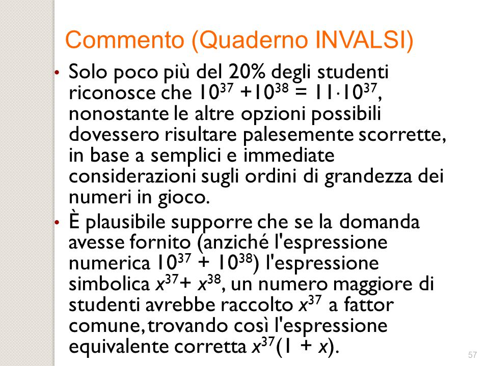 Commento (Quaderno INVALSI)