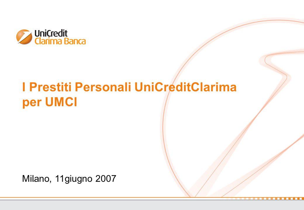 I Prestiti Personali UniCreditClarima per UMCI