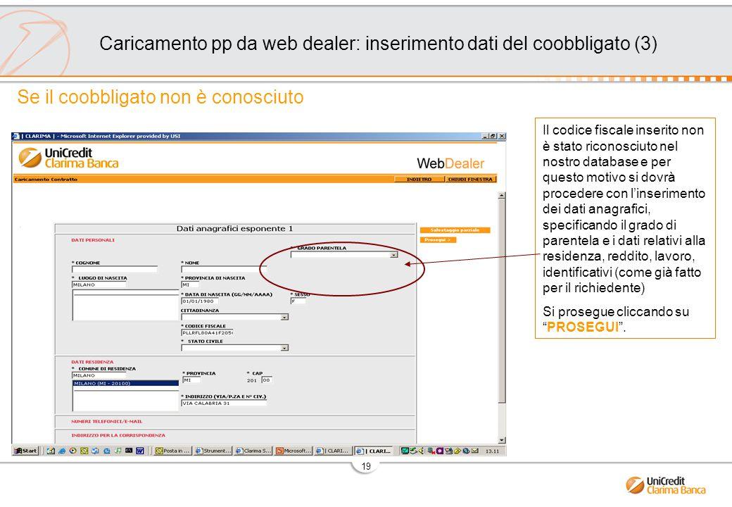 Caricamento pp da web dealer: inserimento dati del coobbligato (3)