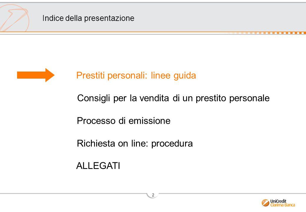 Prestiti personali: linee guida
