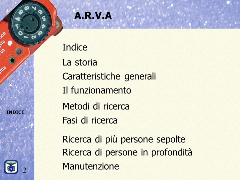 A.R.V.A Indice La storia Caratteristiche generali Il funzionamento