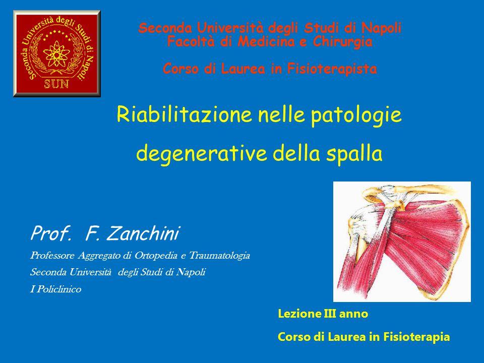 Riabilitazione nelle patologie degenerative della spalla