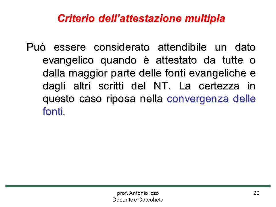 Criterio dell'attestazione multipla