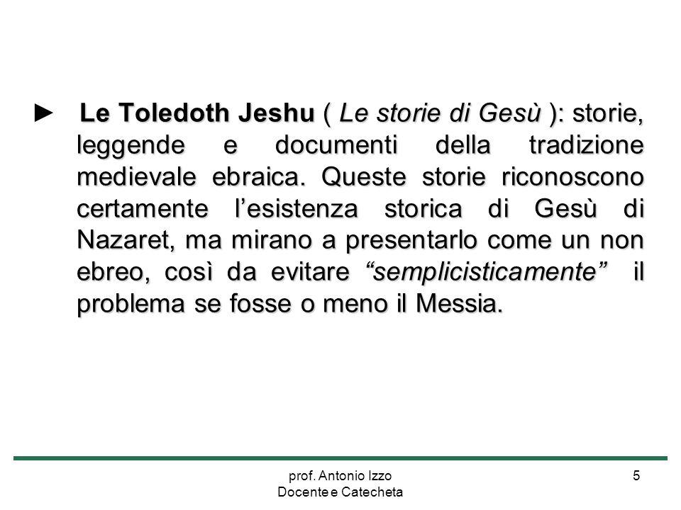 prof. Antonio Izzo Docente e Catecheta