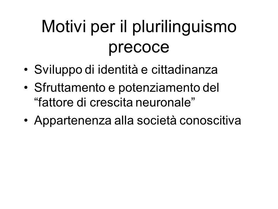 Motivi per il plurilinguismo precoce