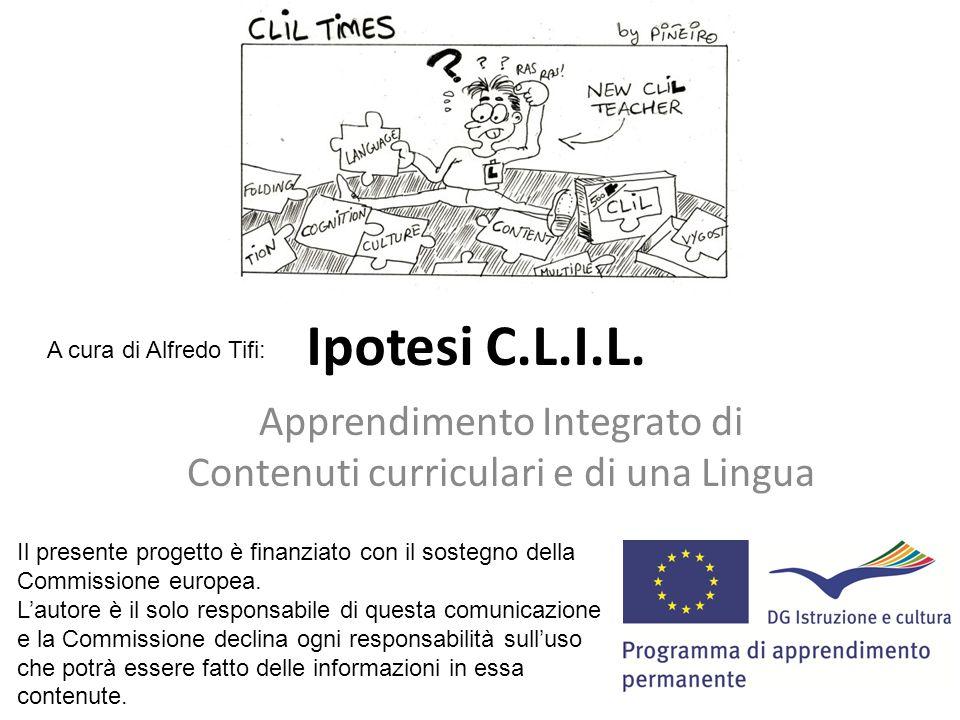 Apprendimento Integrato di Contenuti curriculari e di una Lingua