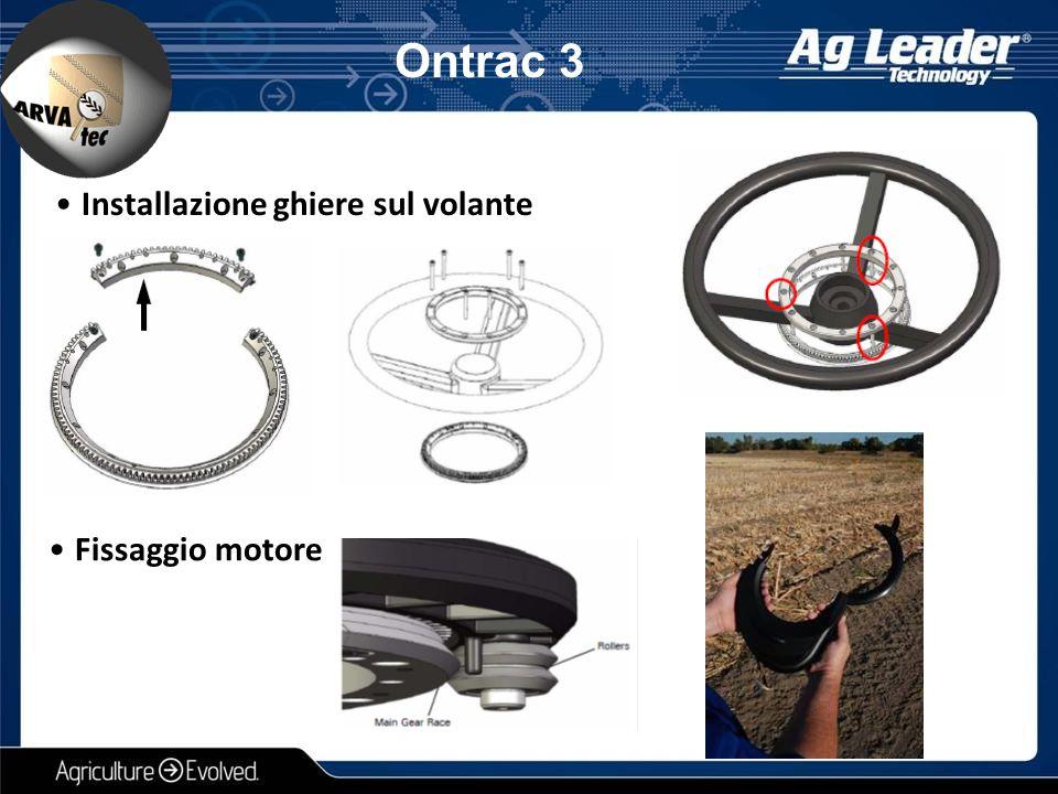 Ontrac 3 Installazione ghiere sul volante Fissaggio motore