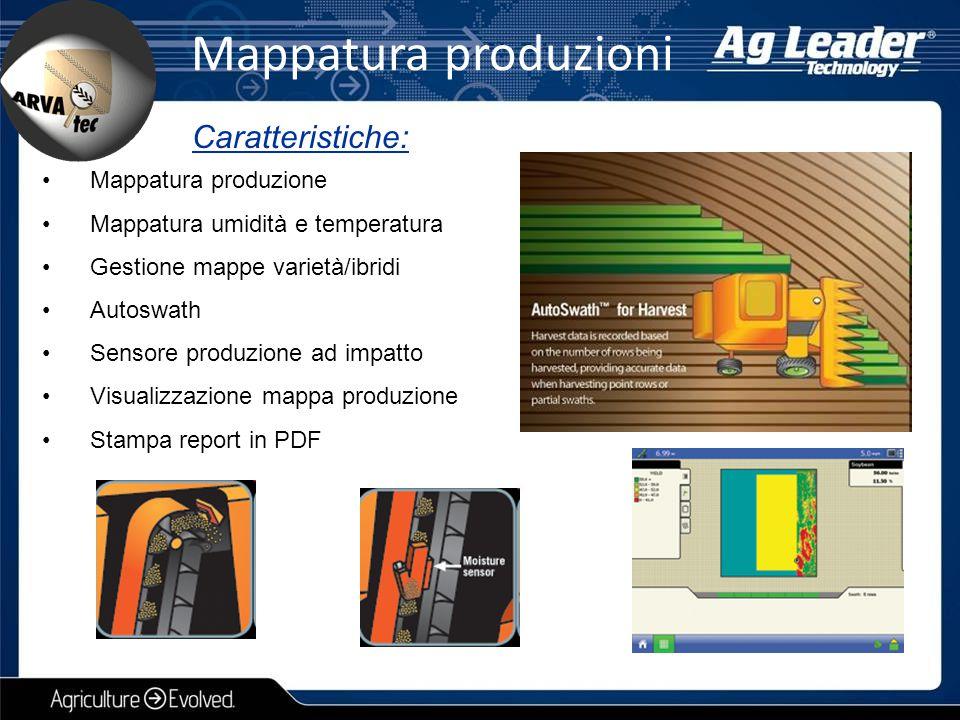 Mappatura produzioni Caratteristiche: Mappatura produzione