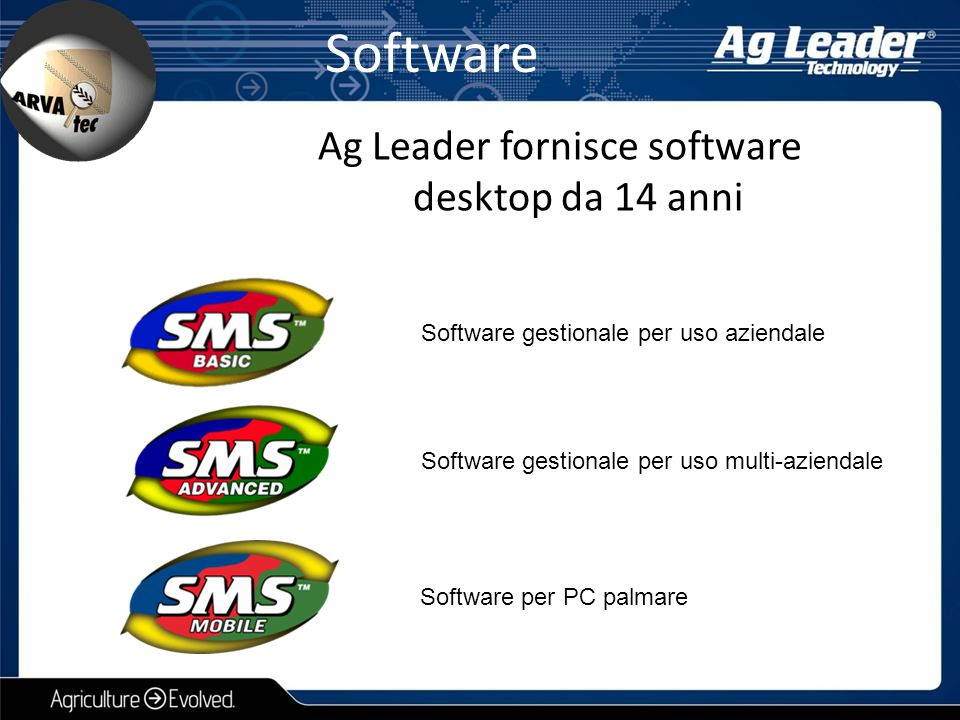 Software Ag Leader fornisce software desktop da 14 anni