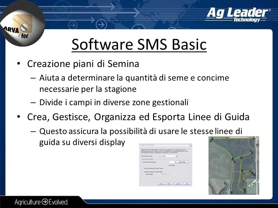 Software SMS Basic Creazione piani di Semina