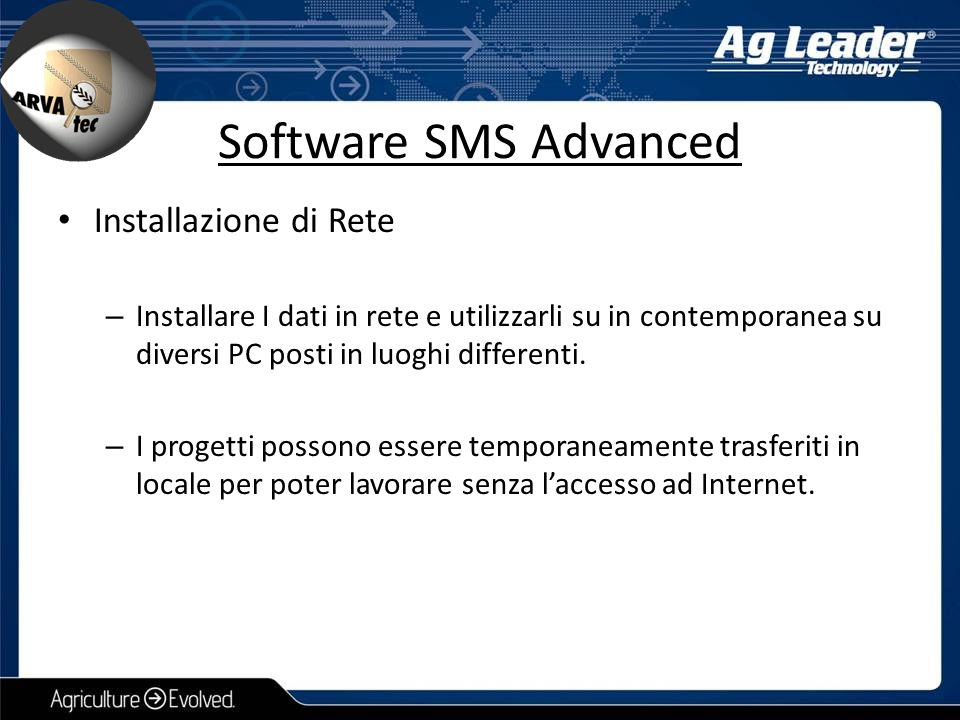 Software SMS Advanced Installazione di Rete