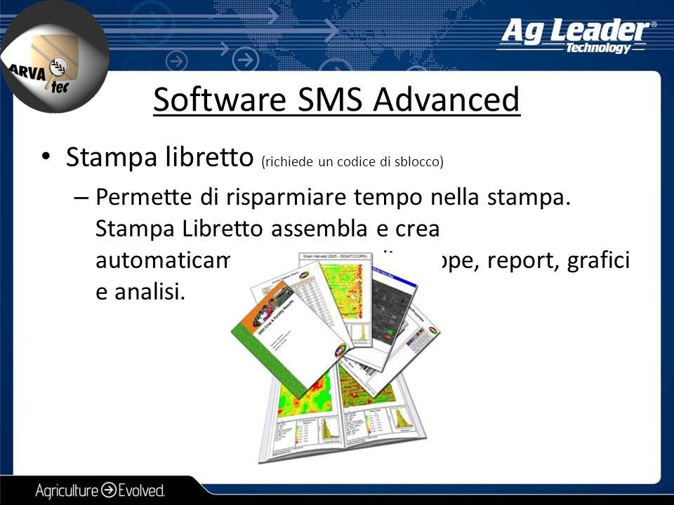 Software SMS Advanced Stampa libretto (richiede un codice di sblocco)