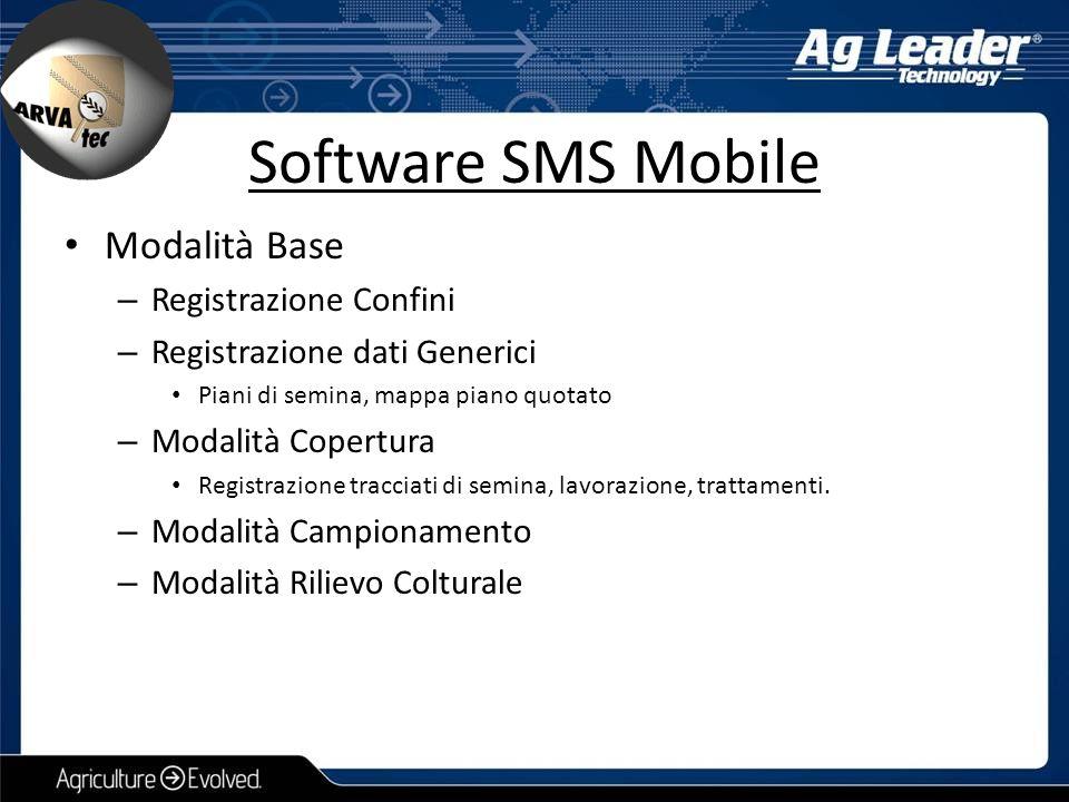 Software SMS Mobile Modalità Base Registrazione Confini
