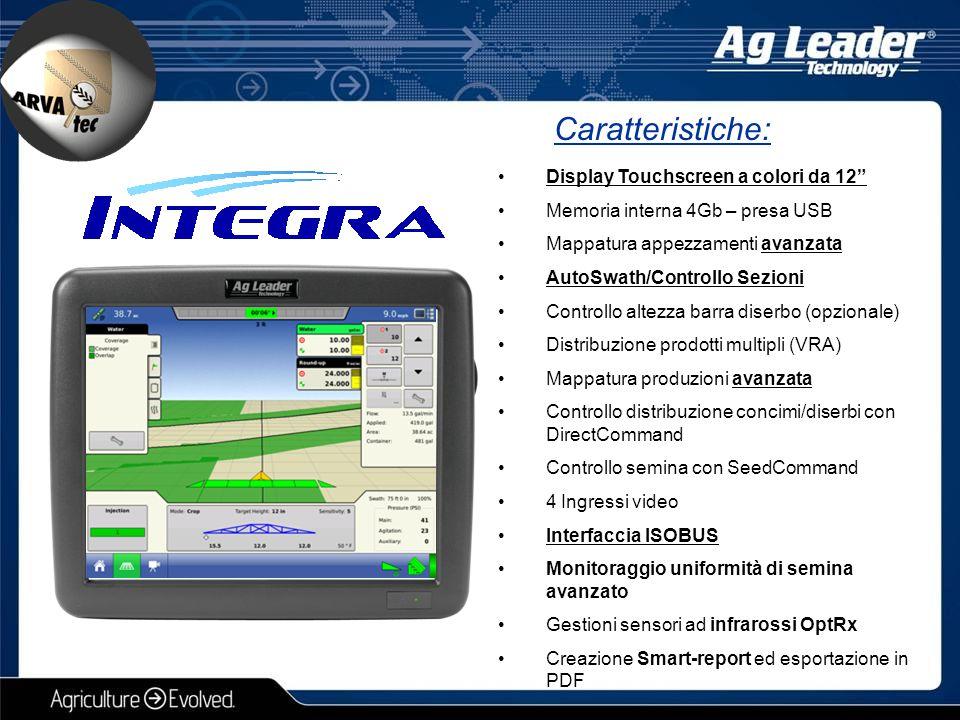 Caratteristiche: Display Touchscreen a colori da 12