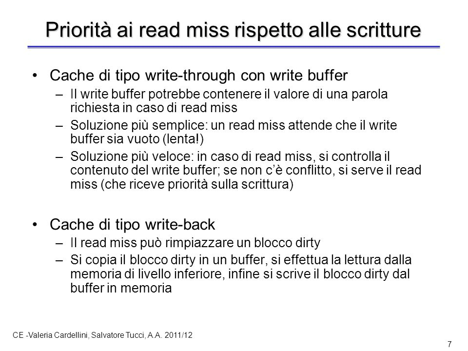 Fusione sul write buffer