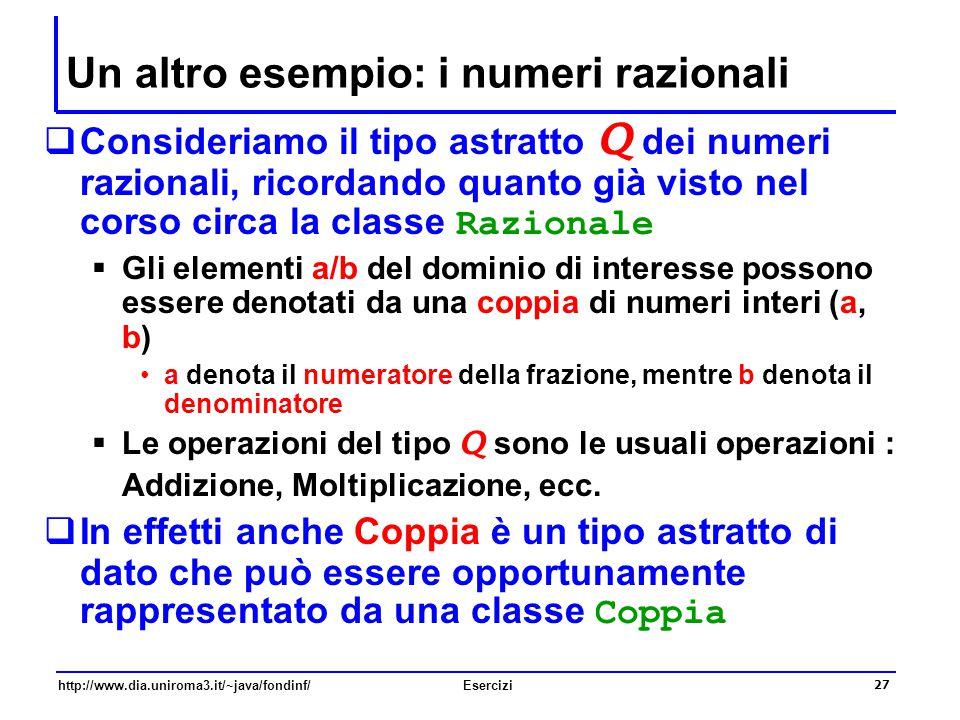 Un altro esempio: i numeri razionali