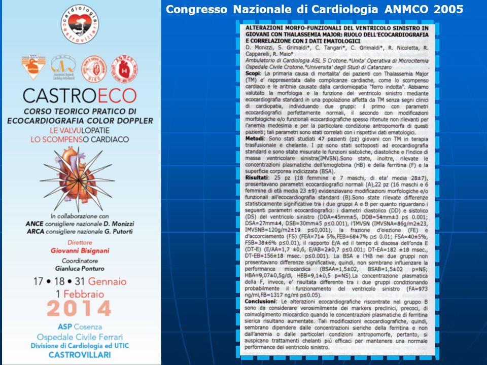 Congresso Nazionale di Cardiologia ANMCO 2005