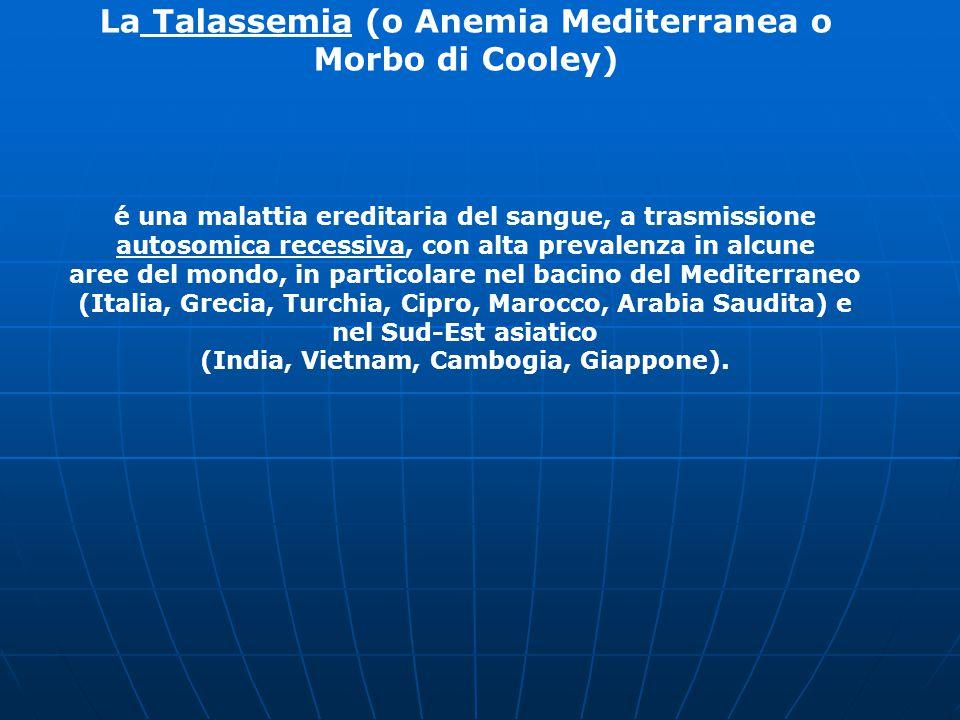 La Talassemia (o Anemia Mediterranea o Morbo di Cooley)