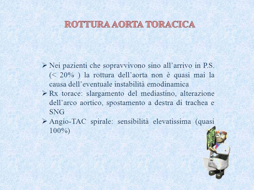 ROTTURA AORTA TORACICA
