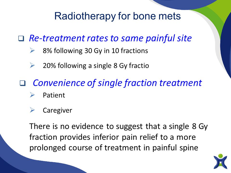 Radiotherapy for bone mets