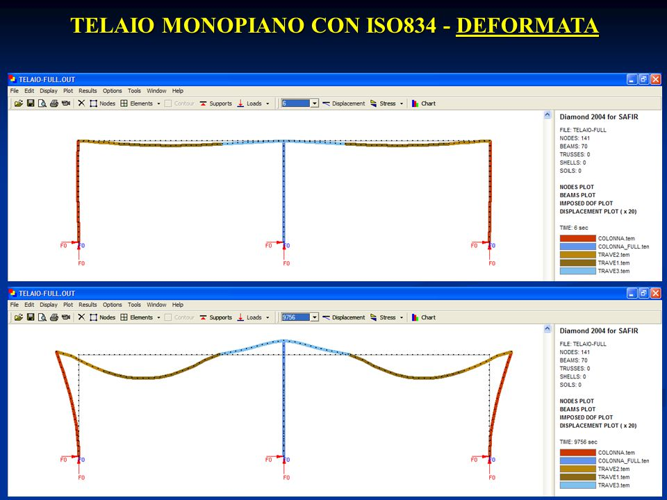 TELAIO MONOPIANO CON ISO834 - DEFORMATA