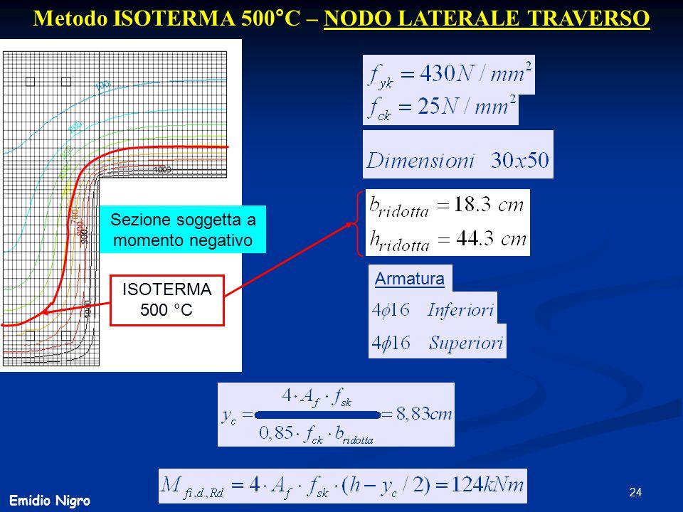 Metodo ISOTERMA 500°C – NODO LATERALE TRAVERSO
