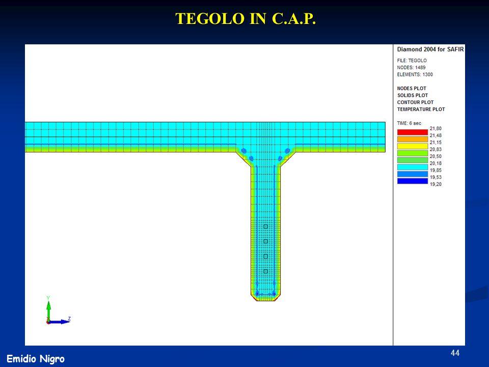 TEGOLO IN C.A.P. Emidio Nigro
