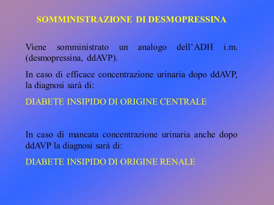 SOMMINISTRAZIONE DI DESMOPRESSINA