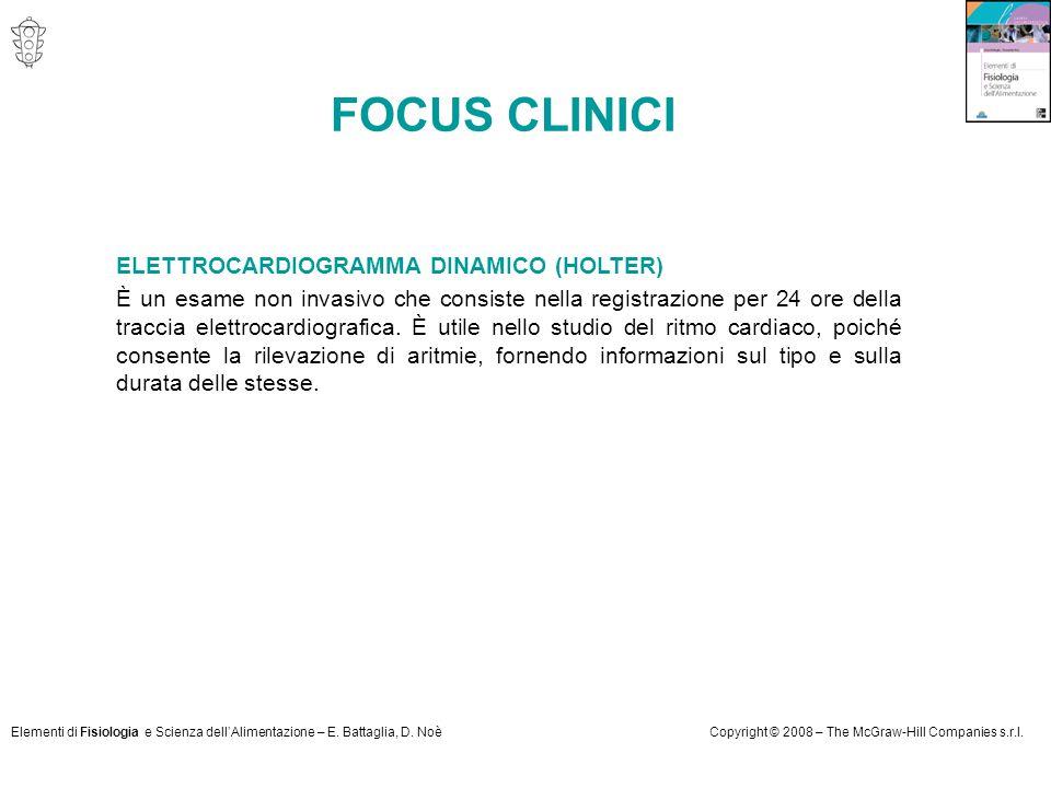 FOCUS CLINICI ELETTROCARDIOGRAMMA DINAMICO (HOLTER)