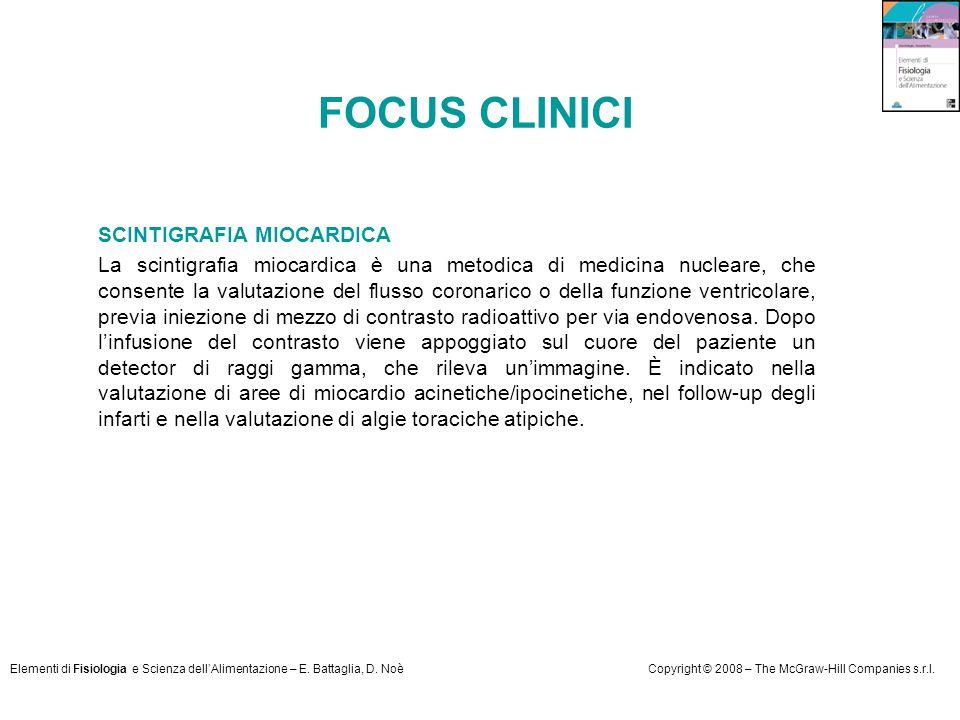 FOCUS CLINICI SCINTIGRAFIA MIOCARDICA