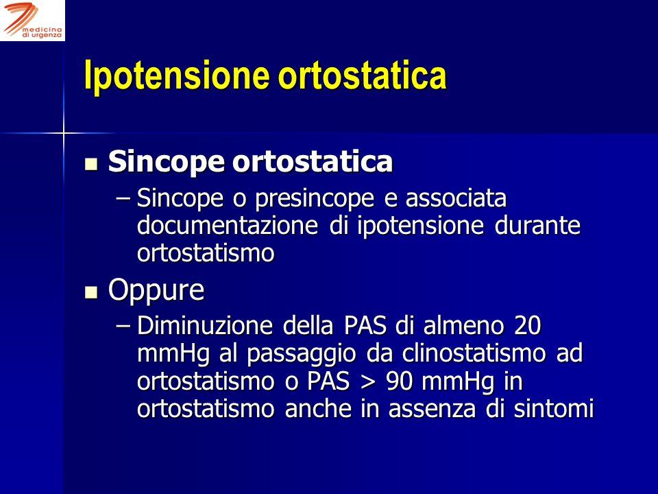 Ipotensione ortostatica