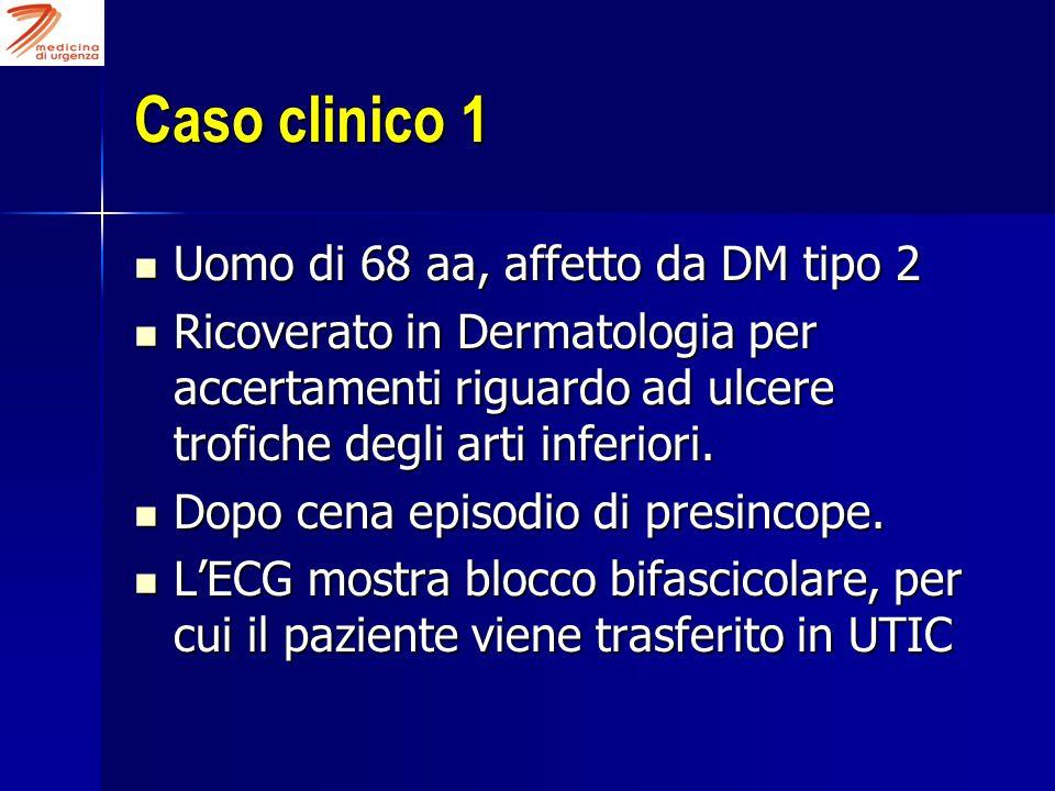 Caso clinico 1 Uomo di 68 aa, affetto da DM tipo 2