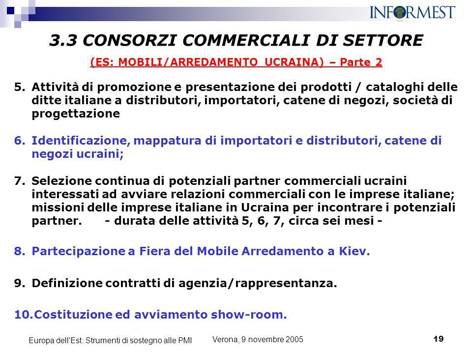 3.3 CONSORZI COMMERCIALI DI SETTORE