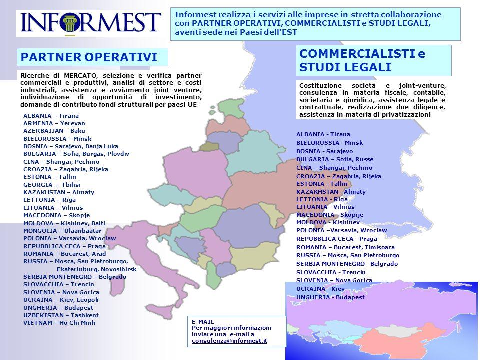 COMMERCIALISTI e PARTNER OPERATIVI STUDI LEGALI