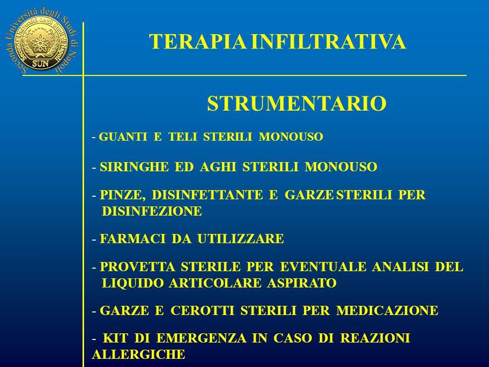 TERAPIA INFILTRATIVA STRUMENTARIO