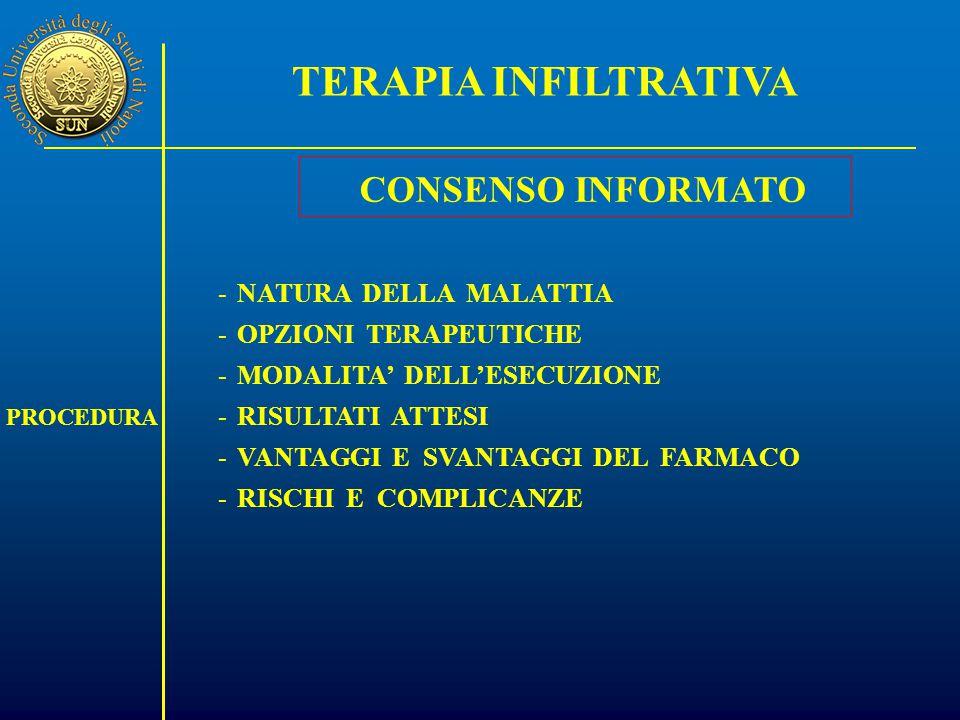 TERAPIA INFILTRATIVA CONSENSO INFORMATO NATURA DELLA MALATTIA