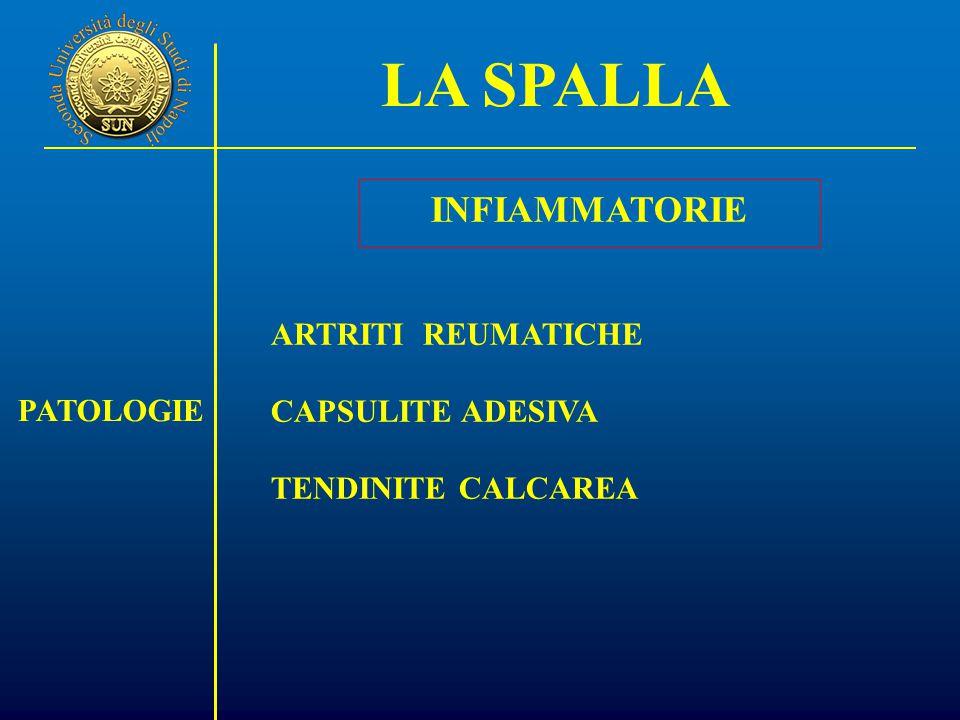 LA SPALLA INFIAMMATORIE ARTRITI REUMATICHE CAPSULITE ADESIVA