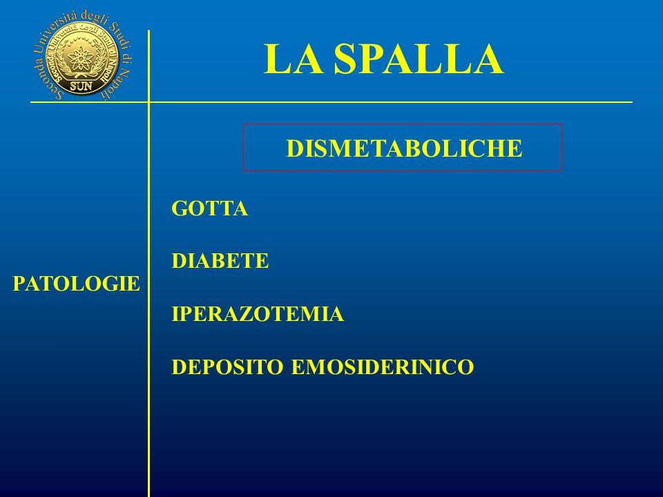 LA SPALLA DISMETABOLICHE GOTTA DIABETE IPERAZOTEMIA