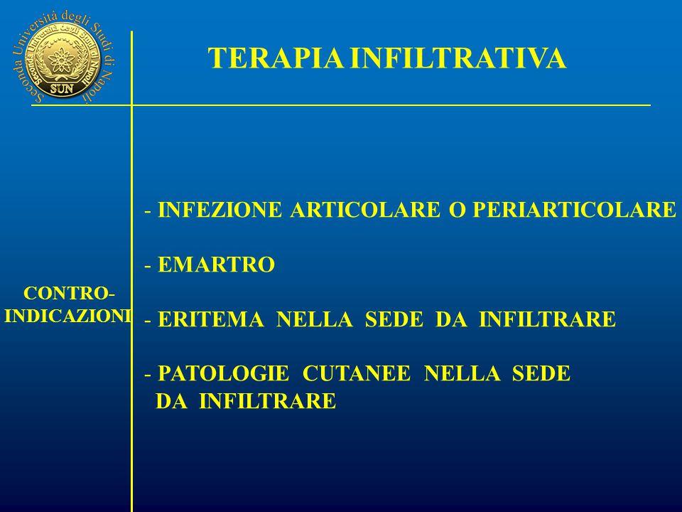 TERAPIA INFILTRATIVA INFEZIONE ARTICOLARE O PERIARTICOLARE EMARTRO