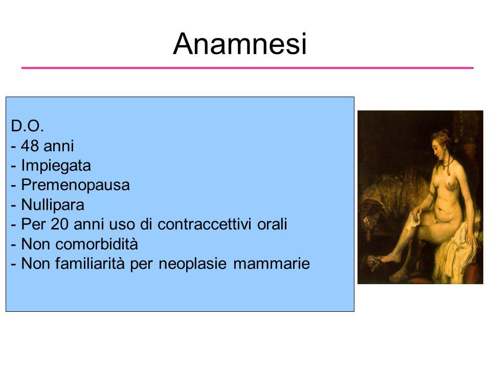 Anamnesi D.O. 48 anni Impiegata Premenopausa Nullipara