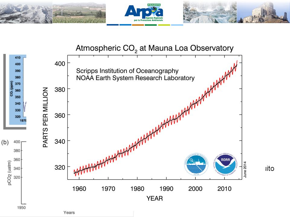 Cambiamenti osservati nella CO2