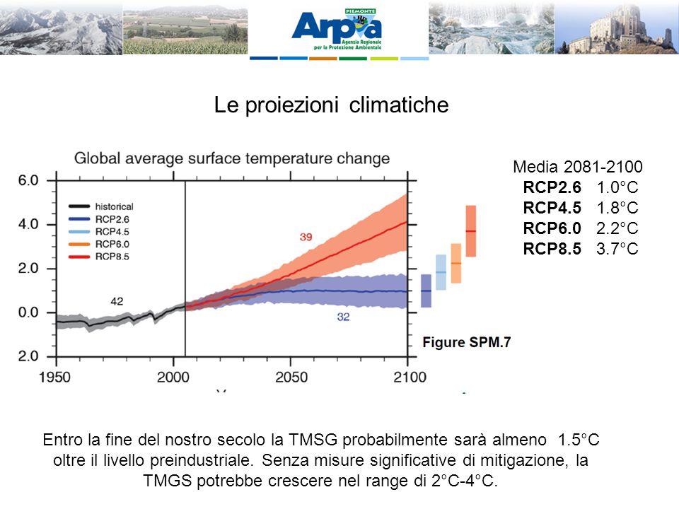 Le proiezioni climatiche