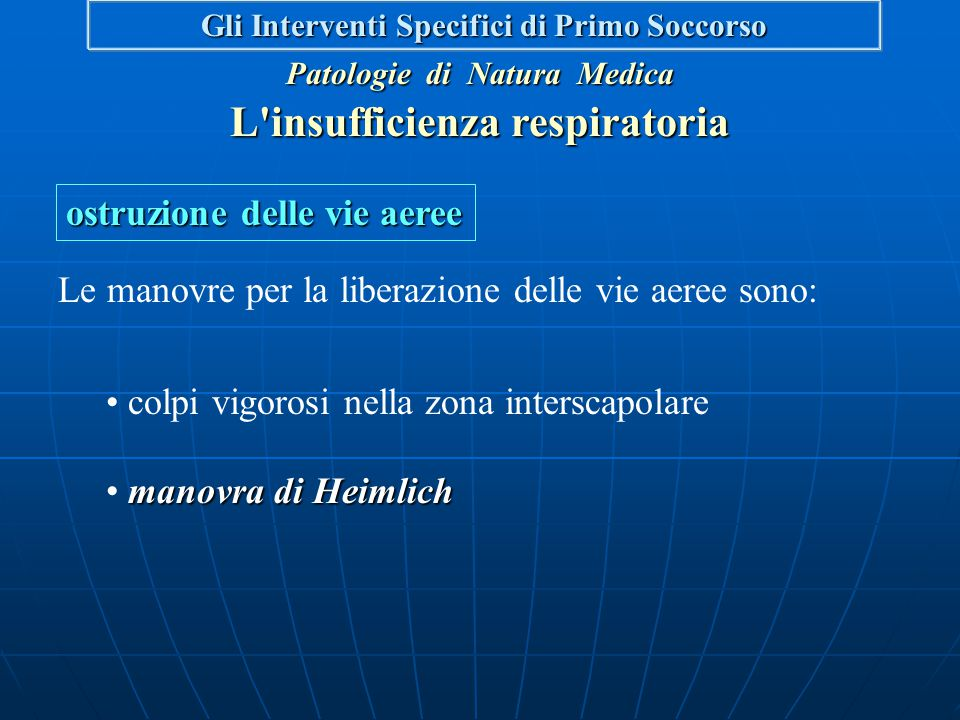 L insufficienza respiratoria