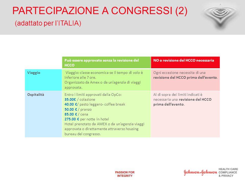 PARTECIPAZIONE A CONGRESSI (2) (adattato per l'ITALIA)