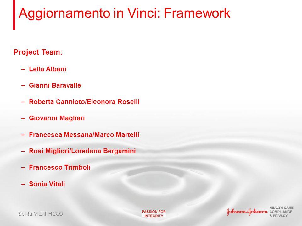 Aggiornamento in Vinci: Framework