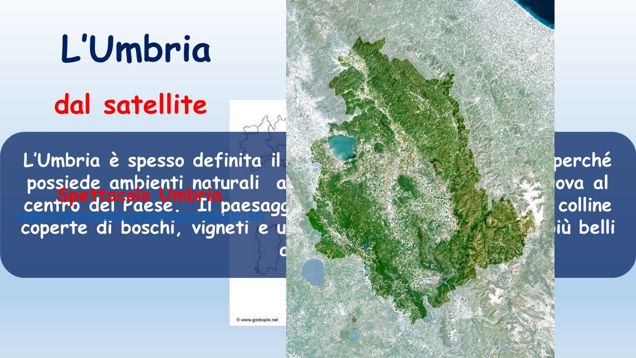 L'Umbria dal satellite