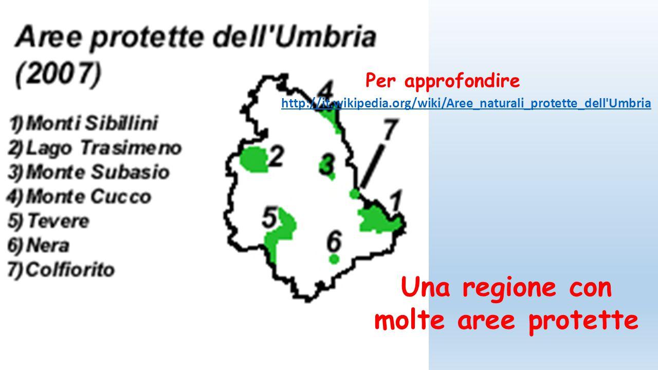 Una regione con molte aree protette