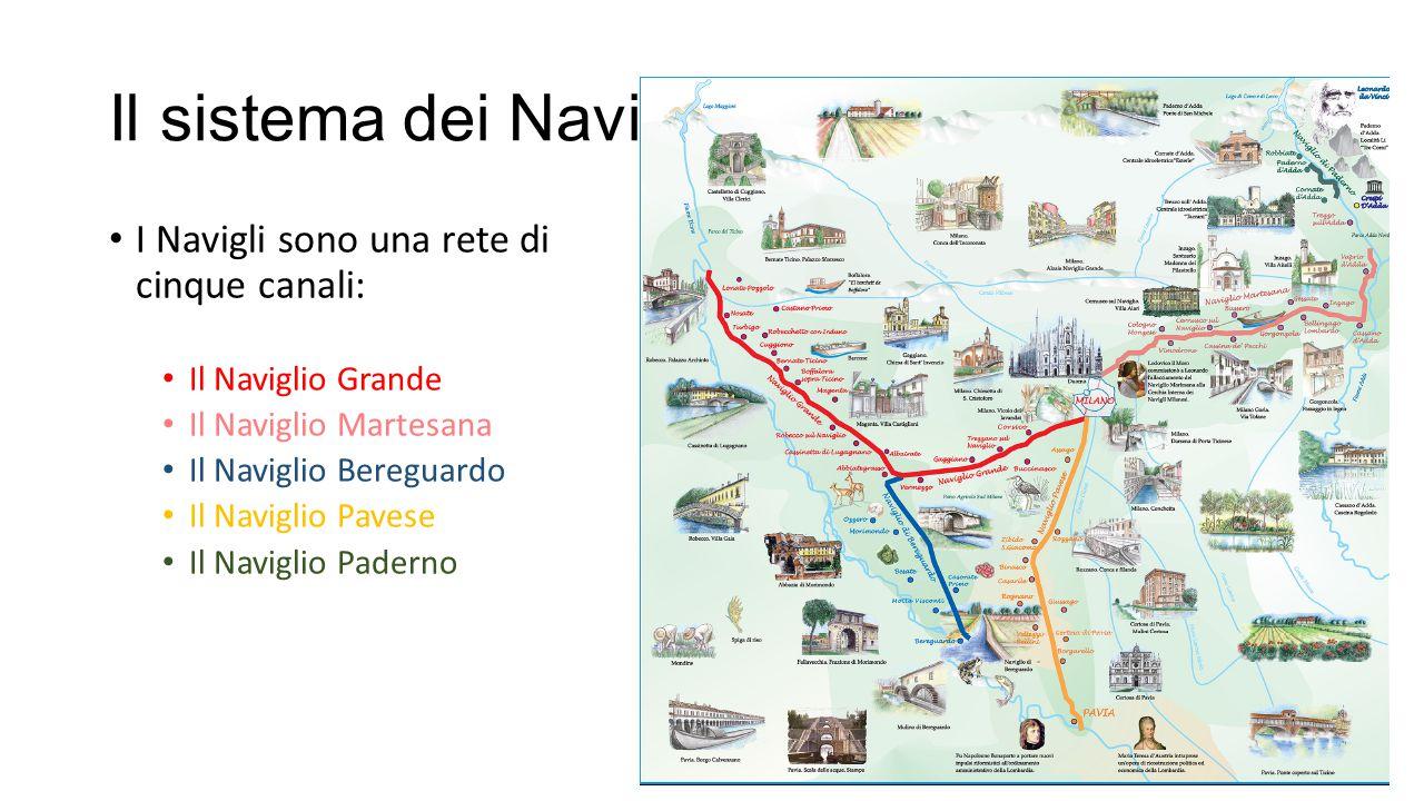 Il sistema dei Navigli I Navigli sono una rete di cinque canali: