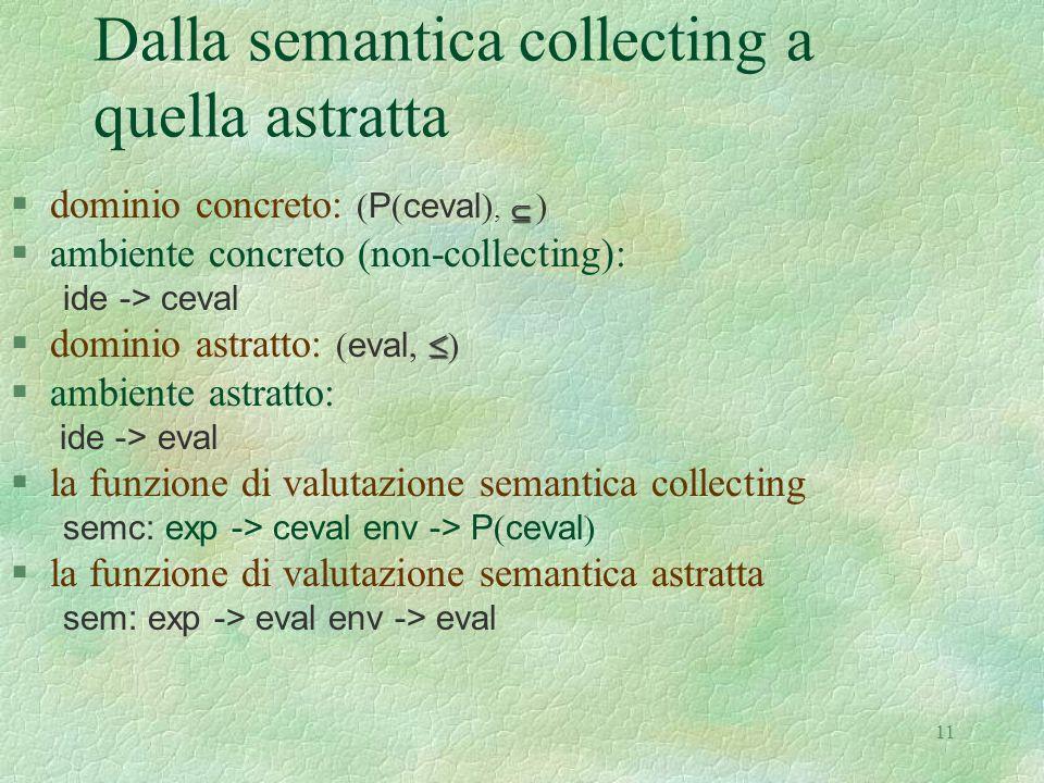 Dalla semantica collecting a quella astratta